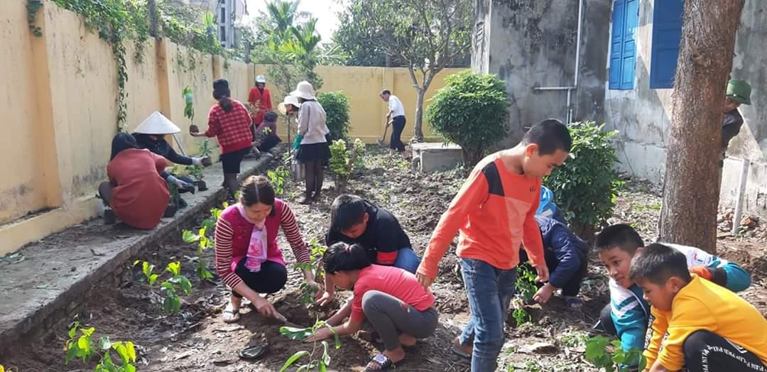 Trường tiểu học Nam Mỹ hưởng ứng ngày Tết trồng cây – Xuân Canh Tý 2020.